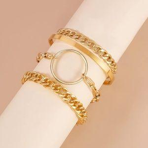 Link Chunky Bracelets 14K Gold